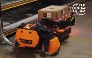 This robot can pickup heavy boxes in warehouses.